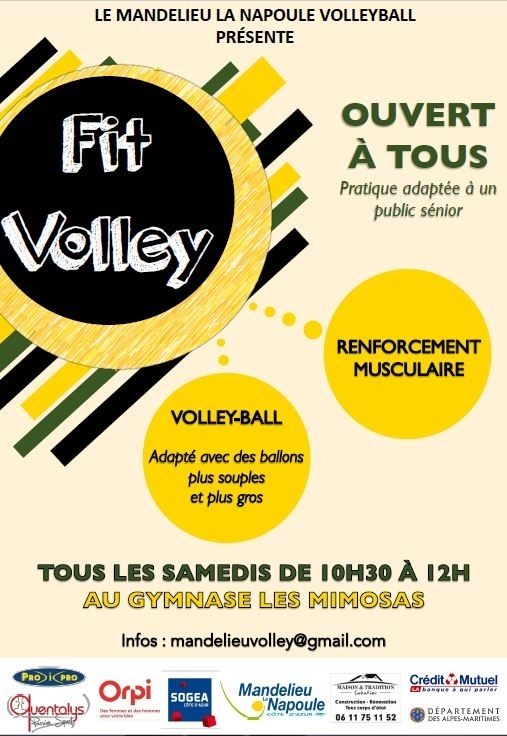 Nouveau au MLNVB : le fit-volley !