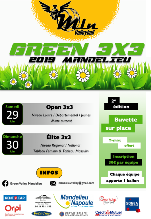 2EME EDITION DU GREEN VOLLEY MANDELIEU